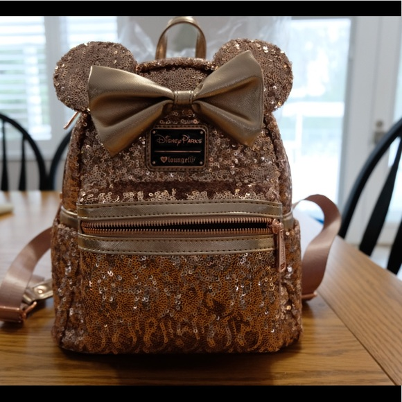 Loungefly Bags   Disney Rose Gold Backpack   Poshmark 50ba249587